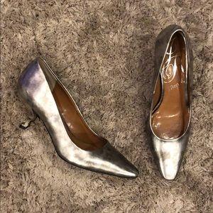 J.Renee Kota Metallic Sculpted Heel Pumps